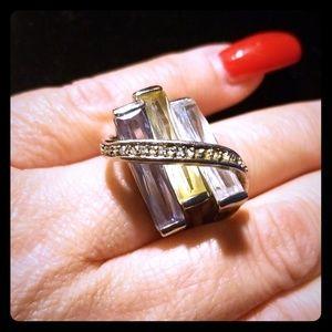 Tri-Stone Ring sz.9